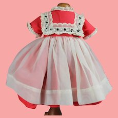 """Vintage 1959 Ideal 15"""" Shirley Temple Doll Tagged Factory Dress """"School Girl"""""""