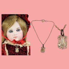 Vintage French Doll Necklace Our Lady of Lourdes!