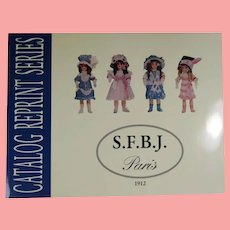 Doll Reference Book! French S.F.B.J. Bisque Dolls Catalog Reprints! SFBJ