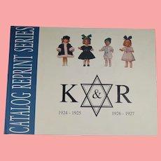 Hardback Doll Reference Book! K*R Kammer & Reinhardt Catalog Reprints 1924-1927
