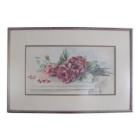 Vintage Water Color Painting ~ ROSES ~ signed G. MacDonald Bell