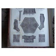 Circa 1892 Victorian Knitting & Fancywork Book ~ Patterns & Color Plates
