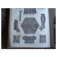 Circa 1892 Victorian Knitting & Fancywork Book ~ Patterns & Color Plates