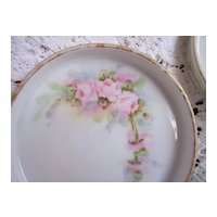 Set 4 Vintage Hand Painted ROSES Coasters ~ Royal Austria