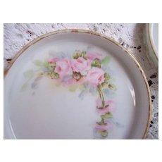 Set 4 Vintage Hand Painted ROSES Coasters ~ Royal Austria