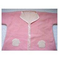 Vintage 1920's Child's Wool Bath Robe ~ Squirrel applique, silk trim