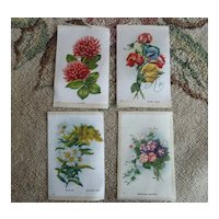 LOT Early 1900 Floral Cigarette Silk Litho Prints ~ Mixed