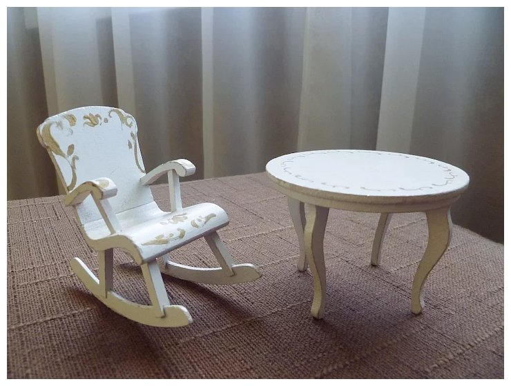 Vintage Doll House Furniture ~ White Painted Table U0026 Rocking Chair