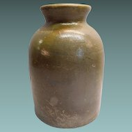 Stoneware Storage Jar Salt Glaze circa 1900