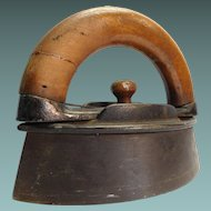 Flat Iron With Wood Handle #3