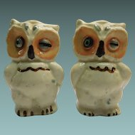 Shawnee Winking Owl Salt and Pepper Shakers