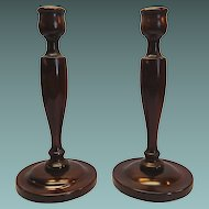 Wood Candlestick Tall Hand turned Candlestick Holders