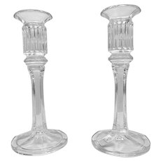 Lead Crystal Glass Candlestick Holders by Nachtmann