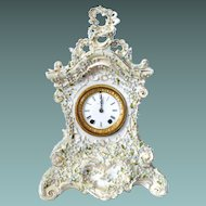 Seth Thomas Clock With Heavy White  French Style Porcelain Box 1879 circa