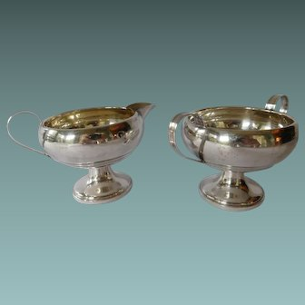 Sterling Silver Creamer and Sugar Mueck-Cary #3256