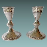 Sterling Candlestick Holders by Poole Silver #H299