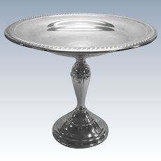 Silver-plate Compote With Pedestal Base By F.B.Rogers