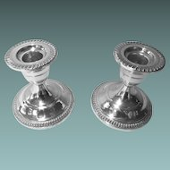 Fisher Sterling Silver Candlestick Holders
