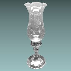Silver-plate Single Candlestick Holder by Sheffield Silver Co Italy