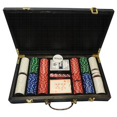 Vegas Poker Clay Chips Game Set With Case