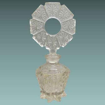 Perfume Bottle, Glass with Fancy Top