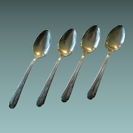 Vintage New England Silverplate Brandon Pattern Soup Spoons