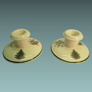 Holiday Candlestick Holders Original Christmas Tree Design  England  Cuthbertson