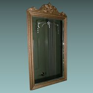 Wood Framed Mirror By Central Circa 1929