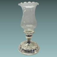 Sterling Silver Repousse Candlestick Holder By S. Kirk & Son