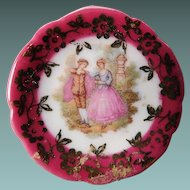 Limoges Fragonard Miniature Plate With Courting Couple
