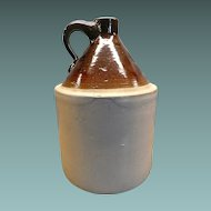 Vintage Stone-ware Jug With Handle One Gallon