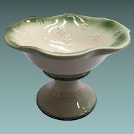 Vintage Pottery Compote with Butterfly Design by Regal USA
