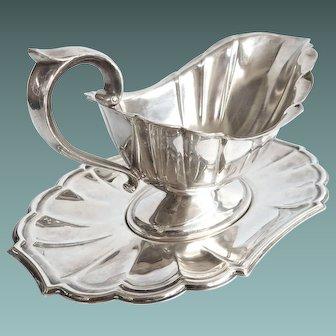 "Silverplate Gorham ""Heritage"" Gravy Boat With Under Plate"