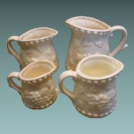 Set of 4 Measuring Cups Ceramic with Grape Design Japan