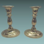 Set Of Solid Brass Candlestick Holders