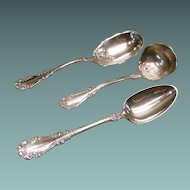 Berkshire Silverplate Spoons Berry Spoon, Gravy Spoon, and Serving Spoon Rogers1897