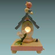 "Vintage Birdie ""Irmi""  With Nesting House Night Light From Nursery Plastics"