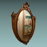 Large Wood Mirror  French or Federal Style