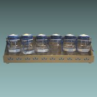 Spice Rack Glass Container And Wood Box Rooster Design