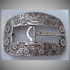 Beautiful Large  Dutch Silver Buckle ca. 1900