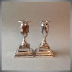 Pr. Sheffield Silver Plate Candlesticks ca. 1820
