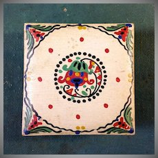 Secessionist Arts and Crafts Hand Painted Footed Box