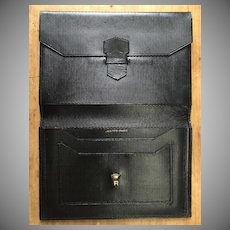 Vintage Hermes Billfold Wallet Black 1940's Danish Royalty