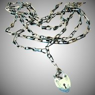 "Niello Guard Chain With Unusual Hefty Link 48"" Long"