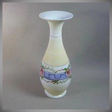 Victorian Hand Blown Bristol Glass Vase