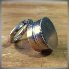 Vintage Prist's Holy Oil Stock with Ring Sterling Vermiel