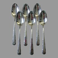 Set 6 Towle Candlelight Tea Spoons Sterling Silver No Monogram