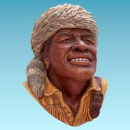 Vintage Bossons Chalkware Bust York the Explorer First Version 1982