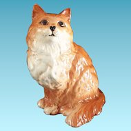 Beswick Persian Cat Ginger Striped Seated #1867