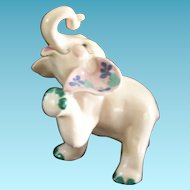Vintage Kay Finch RARE Peanut Elephant Ceramic Figure 1950s California Pottery